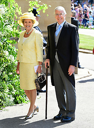 John and Norma Major arrives at St George's Chapel at Windsor Castle for the wedding of Meghan Markle and Prince Harry.