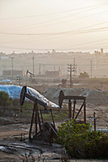 The 1200-acre Inglewood Oil Field located in the Baldwin Hills area is the largest urban oil field in the United States and is surrounded by over 300 homes in the communities of Culver City, Baldwin Hills, Inglewood and Los Angeles. Plains Exploration and Production Co.(PXP), the owner and operator of the oil field, has recently begun the controversial practive of Fracking. Hydraulic Fracturing, or Fracking, is a drilling practice involving pumping of immense quantities of water, chemicals and sand into the ground at very high pressure to break or fissure rock formations in the hope to access hidden pockets of oil and gas. Los Angeles, California, USA