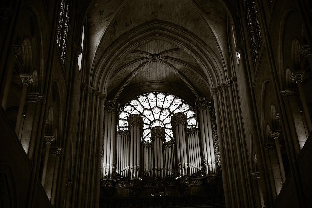 Pipe Organ, Notre Dame. Paris, France. November 25, 2013. Photograph ©2013 Darren Carroll