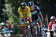 Peter Sagan (SVK - Bora - Hansgrohe) - Marcus Burghardt (GER - Bora - Hansgrohe) during the Tour de France 2018, Stage 3, Team Time Trial, Cholet-Cholet (35 km) on July 9th, 2018 - Photo Kei Tsuji/ BettiniPhoto / ProSportsImages / DPPI