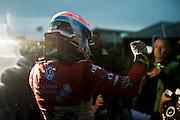 2012 British F3 International Series.Donington Park, Leicestershire, UK.27th - 30th September 2012.Jack Harvey celebrates winning the 2012 British F3 championship...World Copyright: Jamey Price/LAT Photographic.ref: Digital Image Donington_BritF3_Sun-11718