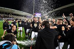 Players of Mura celebrating after football match between NK Maribor and NS Mura in 36th Round of Prva liga Telekom Slovenije 2020/21, on 22 of May, 2021 in Ljudski Vrt, Maribor, Slovenia. Photo by Blaž Weindorfer / Sportida