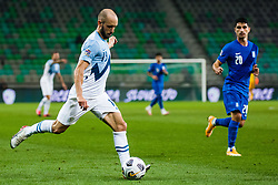Sasa Zivec of Slovenia during football match between National Teams of Slovenia and Greece in UEFA Nations League 2020, on September 3, 2020 in SRC Stozice, Ljubljana, Slovenia. Photo by Grega Valancic / Sportida