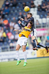 Falkirk's Will Vaulks over East Fife's Ross Brown. Falkirk 3 v 1 East Fife, Petrofac Training Cup played 25th July 2015 at The Falkirk Stadium.
