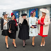 08.10.17.            <br /> Pictured at Limerick Racecourse for the  Keanes Most Stylish Lady competition were, Sheila O'Driscoll, Lisa Tracey, Lorraine O'Connor, Ursula Looby and Maria McCormack. Picture: Alan Place