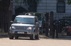 © Licensed to London News Pictures. 30/05/2021. London, UK. A convoy of cars carrying British Prime Minister Boris Johnson is seen leaving Downing Street. Prime Minister Boris Johnson has married his girlfriend Carrie Symonds in a small ceremony  at Westminster Cathedral in Westminster, central London. Photo credit: Ben Cawthra/LNP