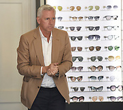 EXCLUSIVE<br /> Ex Crystal Palace manager Alan Pardew pictured looking for new glasses  at Maverick & Wolf Opticians in London<br /> ©Chris Dean/Exclusivepix Media