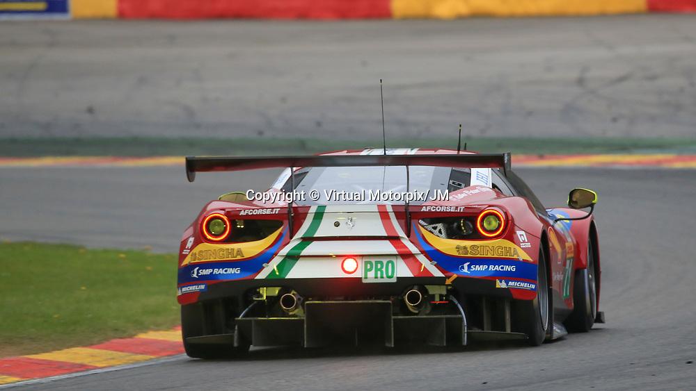 #71, AF Corse Ferrari, Ferrari 488 GTE, driven by, Davide Rigon, Sam Bird, FIA WEC 6hrs of Spa 2017, 06/05/2017,