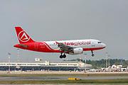 TC-ATD AtlasGlobal Airbus A319-100 landing at Malpensa (MXP / LIMC), Milan, Italy