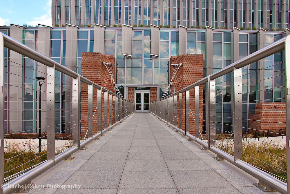 """""""The Leading Lines""""<br /> <br /> Beautiful science building and walkway at Eastern Michigan University!!<br /> <br /> Architecture: Structures and buildings by Rachel Cohen"""
