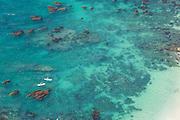 Aerial over Pacific Ocean in Laguna Beach
