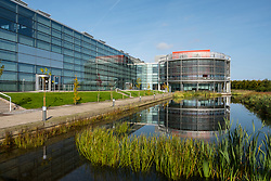 BT office building at Edinburgh Park a modern business park at South Gyle in Edinburgh, Scotland, United Kingdom.