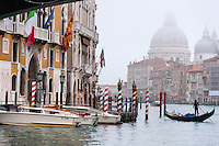 Italy, Venice. Santa Maria della Salute Basilica.