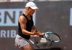 May 16, 2019 - Rome, ITALY - Yulia Putintseva of Kazhakstan in action during her second-round match at the 2019 Internazionali BNL d'Italia WTA Premier 5 tennis tournament (Credit Image: © AFP7 via ZUMA Wire)