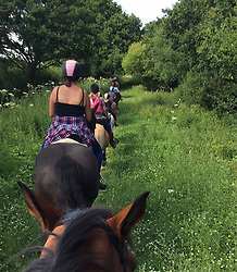 """Katie Price releases a photo on Instagram with the following caption: """"Really enjoyed hacking today with the kids @loupudd  all on my horses \ud83d\udc95\ud83d\udc95\ud83d\udc95"""". Photo Credit: Instagram *** No USA Distribution *** For Editorial Use Only *** Not to be Published in Books or Photo Books ***  Please note: Fees charged by the agency are for the agency's services only, and do not, nor are they intended to, convey to the user any ownership of Copyright or License in the material. The agency does not claim any ownership including but not limited to Copyright or License in the attached material. By publishing this material you expressly agree to indemnify and to hold the agency and its directors, shareholders and employees harmless from any loss, claims, damages, demands, expenses (including legal fees), or any causes of action or allegation against the agency arising out of or connected in any way with publication of the material."""