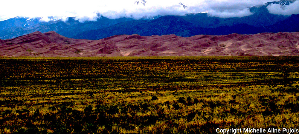 Surreal look at the diverse landscape of Great Sand Dunes National Park Colorado