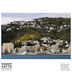 Band Rotunda and Fountain in Oriental Bay, Wellington, New Zealand.<br />