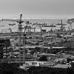 Vista para o Porto de Luanda. Angola