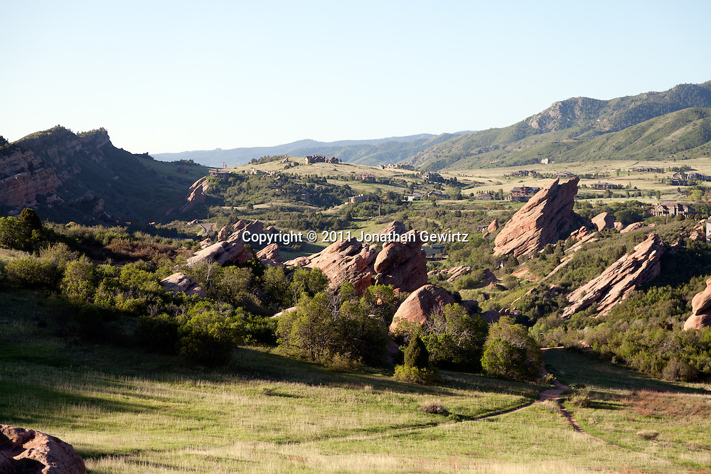 The South Valley Park Ken-Caryl Ranch Open Space in Colorado at dawn. WATERMARKS WILL NOT APPEAR ON PRINTS OR LICENSED IMAGES.