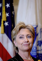 U.S. Sen. Hillary Clinton (D-NY) speaks on Capitol Hill and introduced legislation at the event to enact a new comprehensive 'GI Bill Of Rights' for the 21st Century in Washington DC, USA on May 16, 2007. Photo by Olivier Douliery/ABACAPRESS.COM