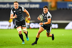 Luke Morgan of Ospreys in action<br /> <br /> Photographer Craig Thomas/Replay Images<br /> <br /> Guinness PRO14 Round 4 - Ospreys v Benetton Treviso - Saturday 22nd September 2018 - Liberty Stadium - Swansea<br /> <br /> World Copyright © Replay Images . All rights reserved. info@replayimages.co.uk - http://replayimages.co.uk