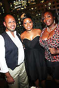 19 July 2010-New York, NY- l to r: Emil Welbekin, Demetria Lucas and Bevy Smith at The Belle Affair powered by Belevedre Grapefruit Vodka  and hosted by Emil Welbekin to celebrate the birthday of Dating Expert Demetria Lucas, who is highly regarded and followed by millions of readers and high profile peers through her wildly popular dating and relationships blog, held at the Shelbourne Hotel Rooftop on July 19, 2010 in New York City.  Photo Credit: Terrence Jennings/WENN