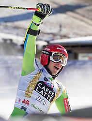18.12.2016, Grand Risa, La Villa, ITA, FIS Ski Weltcup, Alta Badia, Riesenslalom, Herren, 2. Lauf, im Bild Zan Kranjec (SLO) // Zan Kranjec of Slovenia reacts after his 2nd run of men's Giant Slalom of FIS ski alpine world cup at the Grand Risa race Course in La Villa, Italy on 2016/12/18. EXPA Pictures © 2016, PhotoCredit: EXPA/ Johann Groder