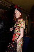 Karen Elson, Cheap Date magazine party to celebrate their 10th issue. Sponsored by Jigsaw. Cafe de Paris. 16 February 2004. ONE TIME USE ONLY - DO NOT ARCHIVE  © Copyright Photograph by Dafydd Jones 66 Stockwell Park Rd. London SW9 0DA Tel 020 7733 0108 www.dafjones.com