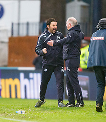 Dundee's manager Paul Hartley at the end. <br /> Dundee 2 v 1  Dundee United, SPFL Ladbrokes Premiership game played 2/1/2016 at Dens Park.