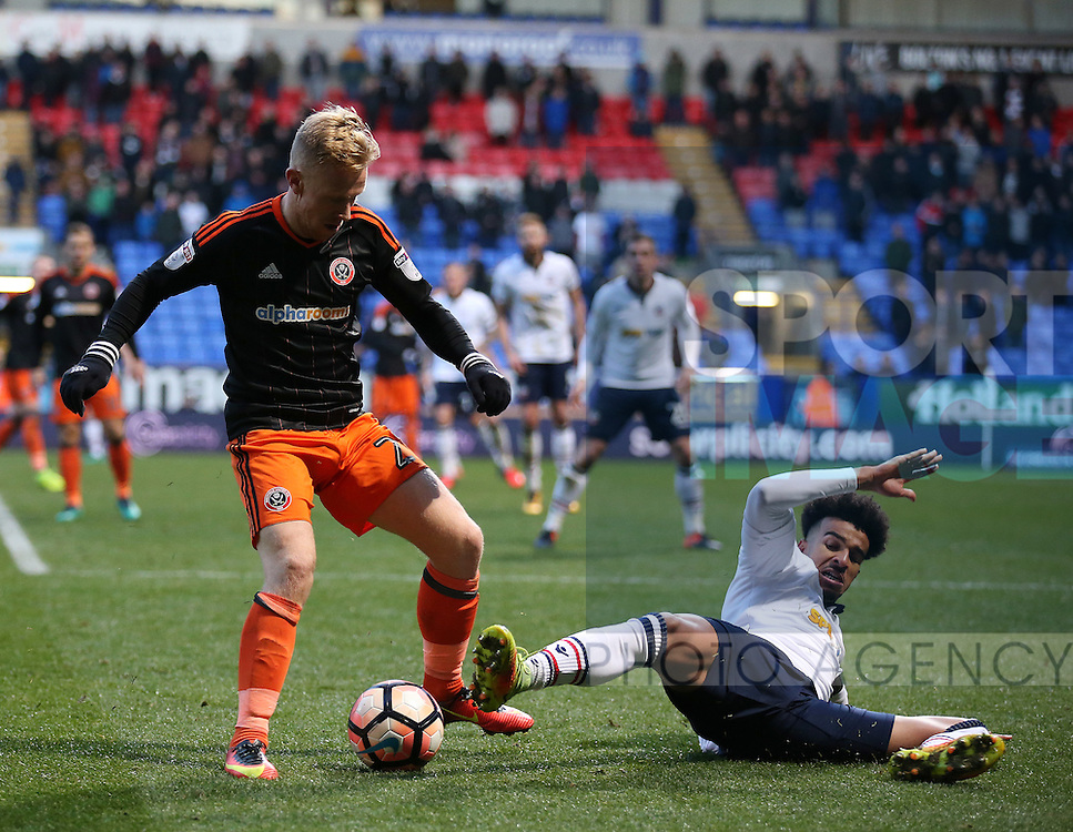 Mark Duffy of Sheffield Utd during the FA Cup Second round match at the Macron Stadium, Bolton. Picture date: December 4th, 2016. Pic Simon Bellis/Sportimage