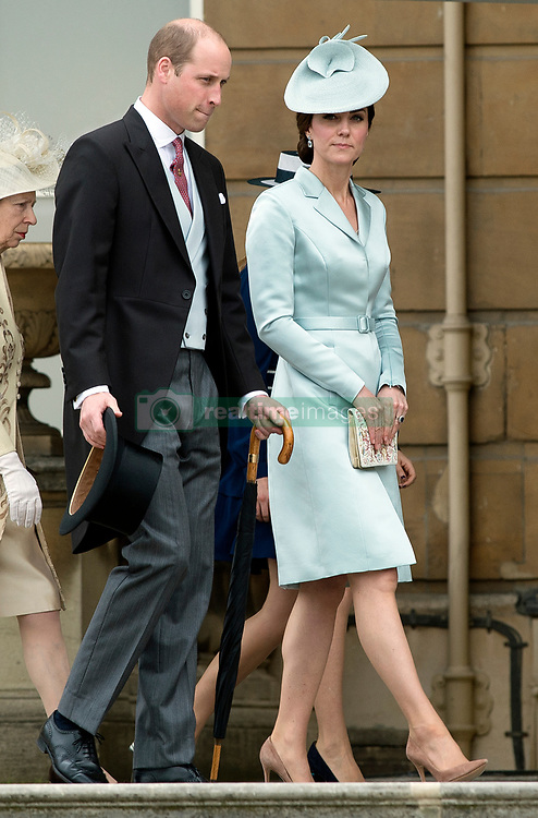 May 16, 2017 - London, London, United Kingdom - Image ©Licensed to i-Images Picture Agency. 16/05/2017. London, United Kingdom. The Duke and Duchess of Cambridge  at a Garden party at Buckingham Palace in London. Picture by ROTA  / i-Images UK OUT FOR 28 DAYS (Credit Image: © Rota/i-Images via ZUMA Press)