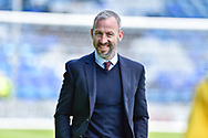Cambridge United manager, Shaun Derry during the EFL Sky Bet League 2 match between Portsmouth and Cambridge United at Fratton Park, Portsmouth, England on 22 April 2017. Photo by Adam Rivers.