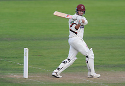 Somerset's Marcus Trescothick hits the ball for his half century. - Mandatory byline: Alex James/JMP - 07966386802 - 09/09/2015 - FOOTBALL -  - The County Ground - Taunton  - Somerset v Hampshire - LV CC -