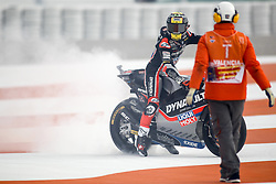 November 17, 2019, Cheste, VALENCIA, SPAIN: Thomas Luthi, rider of Dynavolt Intact GP from Switzerland, after the MotoGP Race of the Valencia Grand Prix of MotoGP World Championship celebrated at Circuit Ricardo Tormo on November 16, 2019, in Cheste, Spain. (Credit Image: © AFP7 via ZUMA Wire)