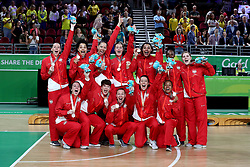 in the Women's Gold Medal Game at the Gold Coast Convention and Exhibition Centre during day ten of the 2018 Commonwealth Games in the Gold Coast, Australia.