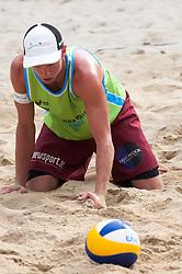 Florian Schnetzer at Beach Volleyball Challenge Ljubljana 2014, on August 2, 2014 in Kongresni trg, Ljubljana, Slovenia. Photo by Matic Klansek Velej / Sportida.com