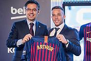 FOOTBALL - PRESENTATION ARTHUR MELO IN FC BARCELONA 110718