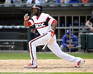 CHICAGO - APRIL 24:  Austin Jackson #10 of the Chicago White Sox bats against the Texas Rangers on April 24, 2016 at U.S. Cellular Field in Chicago, Illinois.  The White Sox defeated the Rangers 4-1.  (Photo by Ron Vesely)   Subject: Austin Jackson
