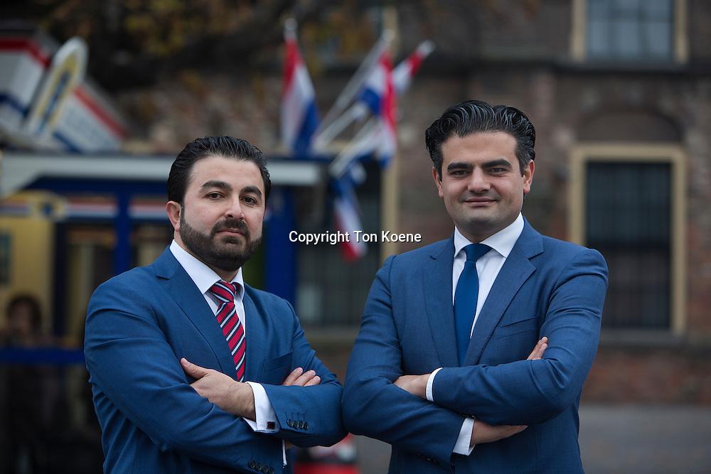 breakaway Dutch-Turkisch Labour MPs Tunahan Kuzu and Selcuk Öztürk.