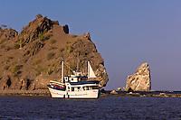 The Ursa Major (charter yacht) anchored in Agua Verde bay, Sea of Cortes, Baja California Sur, Mexico