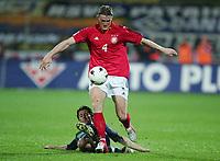 Fotball , mars 2005, Slovenia - Tyskland, Simon Seslar am Boden, Robert HUTH
