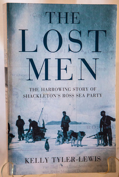 THE LOST MEN - The harrowing story of Shackleton's Ross Sea party, Kelly Tyler-Lewis, Bloomsbury, London, 2006, 366 page softbound, B&W plates, minor foxing, previous owner's name fep., - relatively few know much about what happened to Shackleton's Rosa Sea party that lived at Cape Evans. Ross island and laid depots all the way to the Beardmore glacier ready for Shackleton's ill-fated crossing party from the Weddell Sea. If you think Shackleton's tale from the Weddell Sea was an epic...wait till you read this one!  A terrific yarn...well researched. $NZ40 (Arnold Heine Collection)