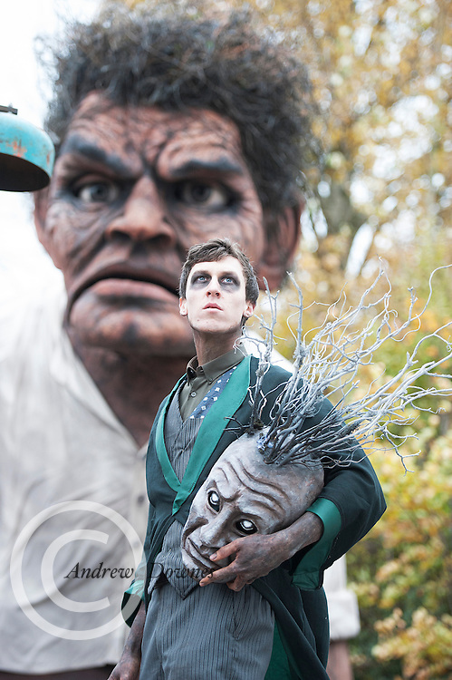 """26/10/2014 The Macnas parade Symphony for the restless"""" took over Galway for a spectacular event that scared and thrilled young and old. Photo:Andrew Downes"""