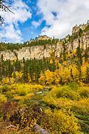 Fall Colors, Spearfish Canyon, Black Hills of South Dakota. Photo taken September 29, 2017.