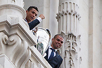 Cristiano Ronaldo and Pepe during the Real Madrid CF reception at Madrid city hall after winning the Champions League May 29,2016. (ALTERPHOTOS/Rodrigo Jimenez)