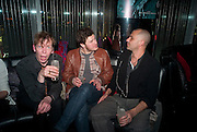 DAVID HOYLE; ANDY HAYWARD; GARY REICH, The launch screening of ÔAnimal CharmÕ  and ÔSusie LovittÕ - W hotel leicester sq. London. 31 January 2012.<br /> DAVID HOYLE; ANDY HAYWARD; GARY REICH, The launch screening of 'Animal Charm'  and 'Susie Lovitt' - W hotel leicester sq. London. 31 January 2012.
