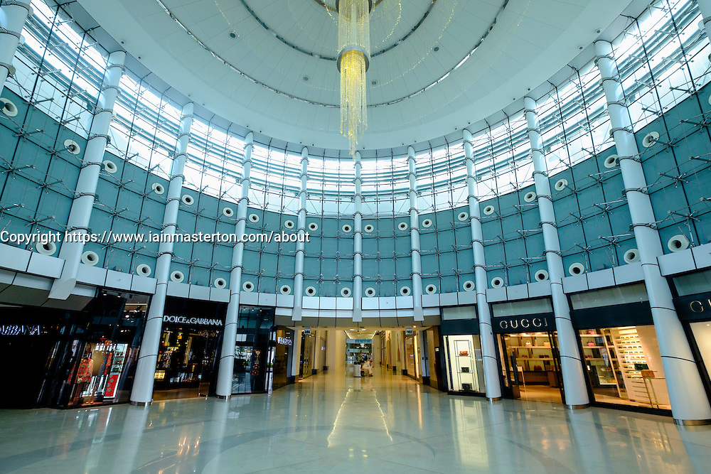 Interior of Moda Mall  shopping mall in Manama, Bahrain
