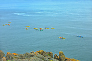 Kayaks in Bay of Fundy<br />Grand Manan Island<br />New Brunswick<br />Canada