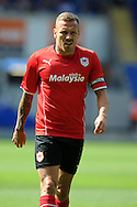 Cardiff city's Craig Bellamy in action. Pre season friendly match, Cardiff city v Athletic Club Bilbao at the Cardiff city stadium in Cardiff,  South Wales on Saturday 10th August 2013. pic by Andrew Orchard,  Andrew Orchard sports photography,
