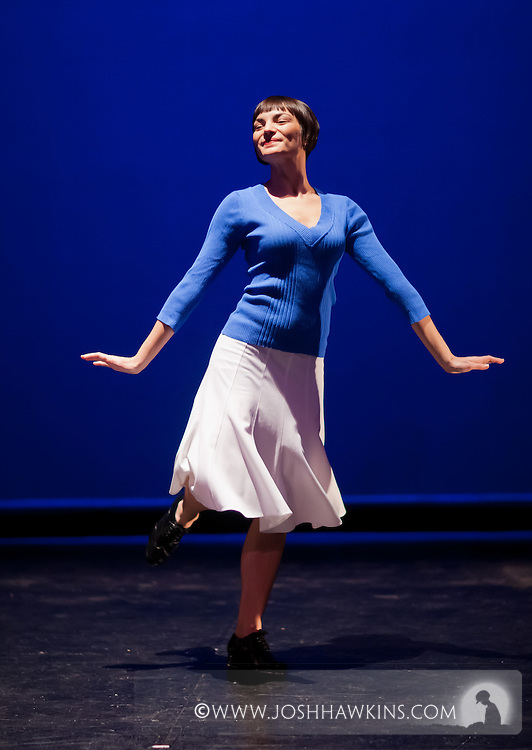 """Chicago Tap Theatre's """"Tidings of Tap"""" performed at UIC Theatre in Chicago, IL on Dec 9-11, 2011..""""Hava Nagila"""" choreography by Mark Yonally, pictured dancer(s): Jennifer Pfaff Yonally"""